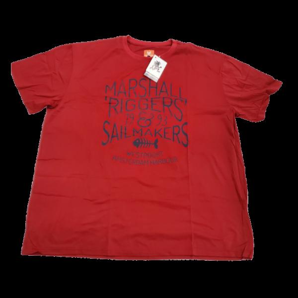 SAGUARO Kerek nyakú póló piros - nagyméretű férfi ruházat